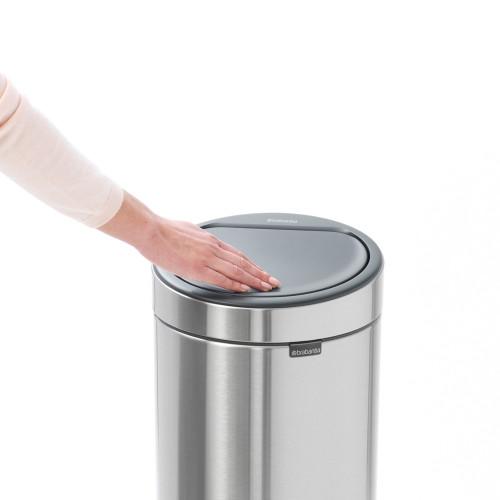Кош за смет Brabantia Touch Bin New 30L, Matt Steel Fingerprint Proof