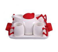 Комплект за чай 6 части, червен