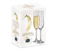 Чаша за шампанско Bohemia Royal Waterfall 190ml, 6 броя