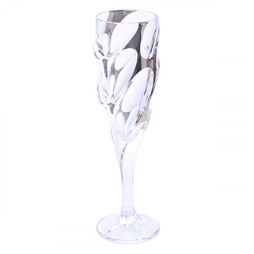 Чаша за шампанско Bohemia 1845 Calypso Platinum 180ml, 6 броя