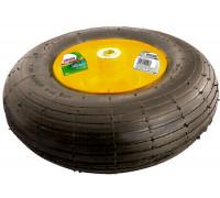 Колело с гума пневматична, 4.00-6, D 325mm, на лагер, вътр. D 16mm, дълж. на оста 100mm PALISAD 6893...