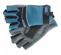 Ръкавици комбинирани олекотени, открити пръсти, XL// GROSS 90317