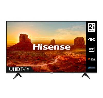 "Телевизор Hisense 50A7100F 50"", 4K Ultra HD 3840x2160, LED, HDR, Smart TV, WiFi, BT, 3xHDMI, 2xUSB, LAN, DVB-T2/C/S2, Черен"