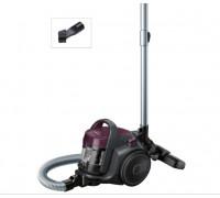 Прахосмукачка без торба Bosch BGC05AAA1, 700W, 1.5 л, Филтър PureAir, Easy Clean, Черна/Лилава