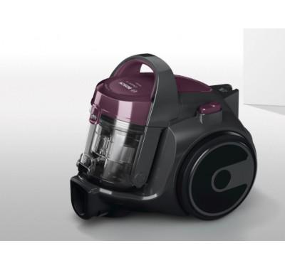 Прахосмукачка без торба Bosch BGC05A320, 700W, 1.5 л, Филтър PureAir, Easy Clean, Черна/Лилава