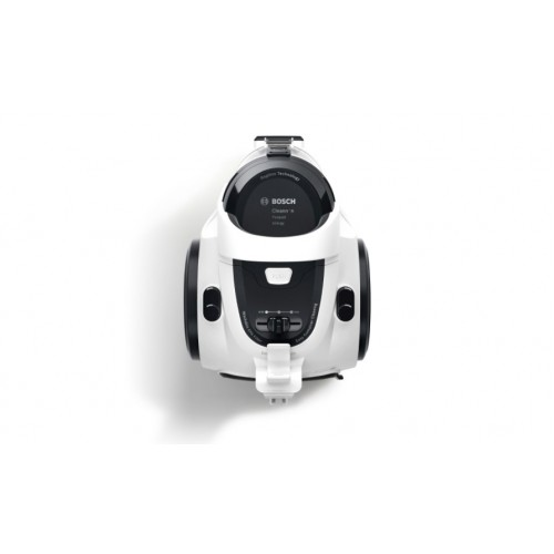 Прахосмукачка без торба Bosch BGS05A222, 700W, 1.5 л, Филтър PureAir, Easy Clean, Черна/Бяла