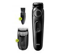 Машинки за подстригване и бръснене Braun BT3222, 50 минути безжична употреба и Ножчета от неръждаема...
