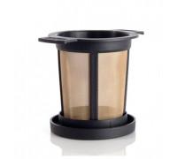 Постоянен метален филтър за чай и кафе Nitec CH08, 1 брой, Размер М, Златист