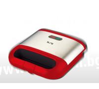 Уред за сандвичи ELITE ESM-1151RB, 750W, Грил плочи с незалепващо покритие, за 2 филии