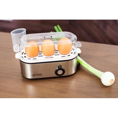 Яйцеварка FIRST FA-5115-2, 210W, Сигнална лампа, До 3 яйца наведнъж, Автоматично изключване