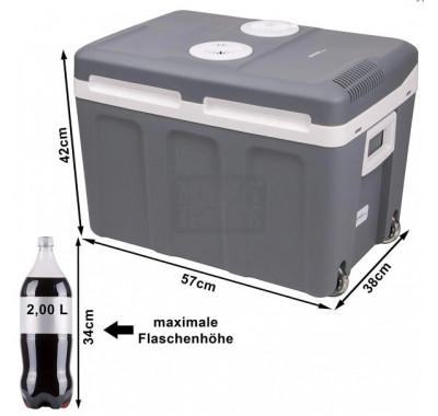 Хладилна чанта First FA-5170-2, 40 л, Електрическа, 58 W, С колелца, Безчеткови двигатели