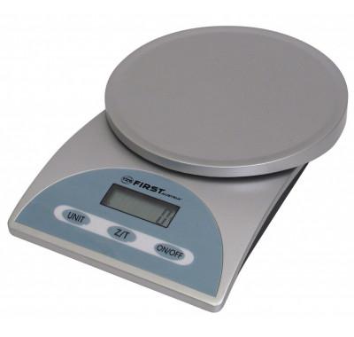 Кухненска везна FIRST FA-6405, 5 кг максимално тегло, Автоматично изключване, Индикатор за захранване