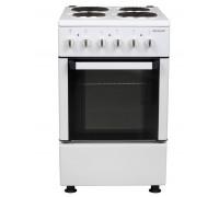 Готварска печка Snaige FF-5304, 4 електрически котлона, Енергиен клас А, Терморегулатор, 3 функции на фурната, Двойно стъкло