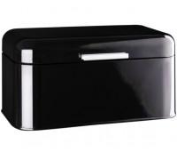 Кутия за хляб DUKA, 30.4 х 18.4 х 25.5 см, Неръждаема стомана, Емайл, Черен