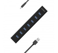 7-портов USB 3.0 хъб Orico H7013-U3-AD-BK
