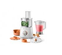 Кухненски робот PHILIPS HR7510/00, 800W, 2 степени на работа, Пластмасов корпус, 7 приставки, 2.1л в...