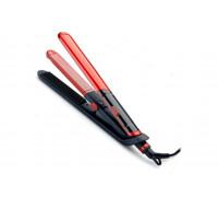 Преса за коса маша 2 в 1 ELITE HSC-0461 керамична, 45W, червена/черна