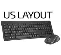 Безжични клавиатура и мишка Delux KA180G+M391GX без кирилизация