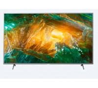 "Телевизор Sony BRAVIA KD-55XH8077 55"", 4K HDR TV, Direct LED with Frame dimming, 4K HDR Processor X1, Dolby Atmos, DVB-C / DVB-T/T2 / DVB-S/S2, USB, Android TV, Гласов контрол, Сребрист"