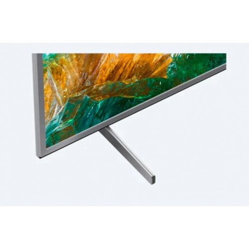 "Телевизор Sony BRAVIA KD-49XH8077 49"", 4K HDR TV, Edge LED with Frame dimming, 4K HDR Processor X1, Dolby Atmos, DVB-C / DVB-T/T2 / DVB-S/S2, USB, Android TV, Гласов контрол, Сребрист"