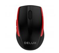 Безжична мишка Delux M521GX черно-червена