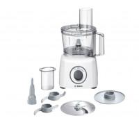 Кухненски робот Bosch MCM3100W, 800 W, 2 Скорости + Функция Moment, Купа 2.3 л, Бял/Сив