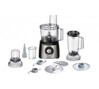 Кухненски робот Bosch MCM3501M, 800 W, 2 Скорости + Функция Moment, Блендер 1 л, Купа 2.3 л, Бял/Сив...