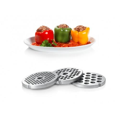 Месомелачка Bosch MFW67450, 2000 W, Приставка за домати и наденица, Капацитет: 3.5 кг/мин