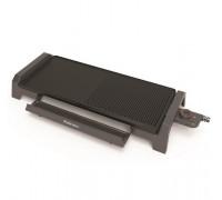Скара Rohnson R-2502, Мощност 2300W, Регулируем термостат до 230 °C, Оребрена и гладка част