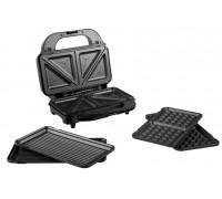 Сандвич тостер 3 в 1 Rohnson R-2683, Мощност 900W, XXL Незалепващи плочи – грил, триъгълници и гофрети