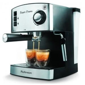 Kафемашина за еспресо Rohnson R-980, 850W, 20 бара, Перфектен каймак