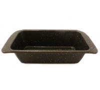 Правоъгълна форма за кекс RIV 2627-9, 31х15х7.5 см, Мраморно покритие, Кафяв