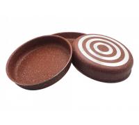 Комплект тави за печене RIV 2637-6, 28/30/32 см, Мраморно покритие, Червен
