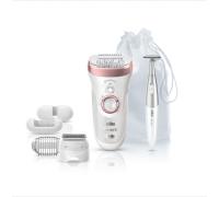 Eпилатор Braun Silk-épil 9890 SensoSmart™  Първият в света интелигентен епилатор + Електрически тример за лице и тяло