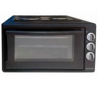 Мини печка Snaige SNM-4202RBL, 2 котлона, 42л обем на фурната, Терморегулатор, Черен