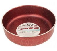 Тава за печене Sapir SP 1222 AL28, 28 см, Мраморно покритие, Червена