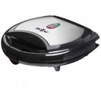 Тостер за сандвичи SAPIR SP 1442 AK, 750 W, Незалепващи грил плочи, Черен