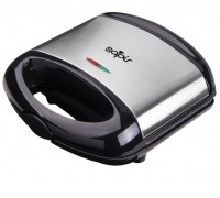 Тостер за сандвичи с мраморно покритие SAPIR SP 1442 ALM, 750 W, Грил плочи, Черен/инокс
