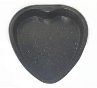 Форма за кекс - сърце Outperform TXG 627, 27.5x26х4.3 см, Незалепващо покритие, Сив