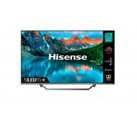"Телевизор Hisense 50U7QF 50"", 4K Ultra HD 3840x2160, ULED, Quantum Dot, 4K HDR 10+, Dolby Atmos, Smart TV, WiFi, BT, 4xHDMI, 2xUSB, LAN, DVB-T2/C/S2, Черен/Сребрист"