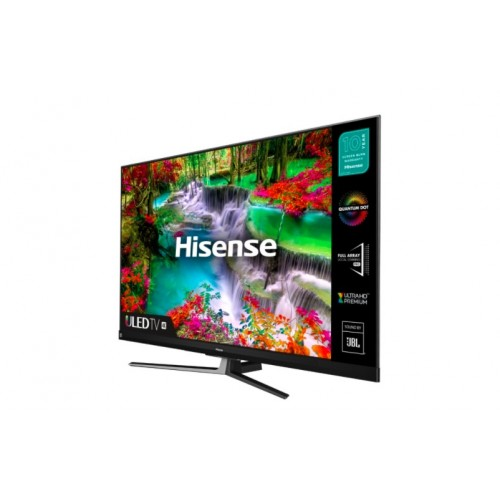 "Телевизор Hisense U8QF 65"", 4K Ultra HD 3840x2160, ULED, Quantum Dot, 4K HDR 10+, Dolby Atmos, Smart TV, WiFi, BT, 4xHDMI, 2xUSB, Черен/Сребрист"