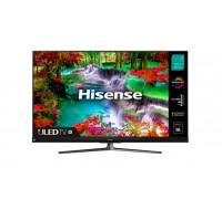 "Телевизор Hisense 65U8QF 65"", 4K Ultra HD 3840x2160, ULED, Quantum Dot, 4K HDR 10+, Dolby Atmos, Smart TV, WiFi, BT, 4xHDMI, 2xUSB, Черен/Сребрист"