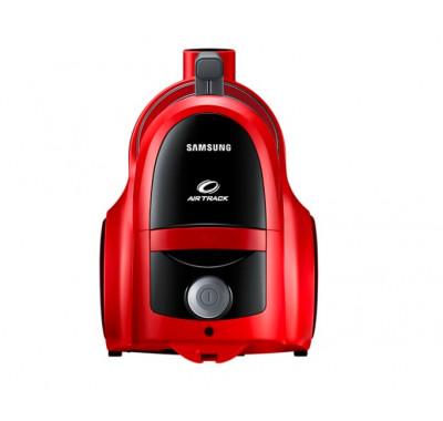 Прахосмукачка без торба Samsung VCC45T0S3R, 1.3 l, 750 W, Air Track, Телескопична тръба, Червена