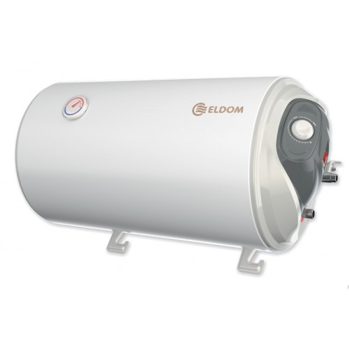 Хоризонтален бойлер Eldom WH05039R, 50 л, 2 KW, Емайлиран, Изводи отдясно