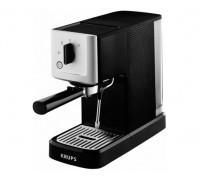 Еспресо машина Krups Calvi XP344010, Механична, Устройство за пяна, 15 бара, 1.1 л, Черна/Сребриста