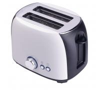 Тостер за хляб ZEPHYR ZP 1440 X, 800W, 2 филийки, 7 степни, Таймер, Тавичка за трохи Бял/черен