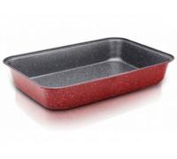 Тава за печене ZEPHYR Red Passion ZP 1222 ECS34, 34 см, Мраморно покритие, Червена