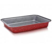 Тава за печене ZEPHYR Red Passion ZP 1222 ECS37, 37 см, Мраморно покритие, Червена