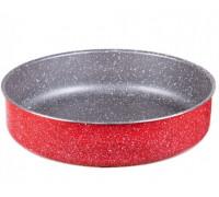 Тава за печене ZEPHYR Red Passion ZP 1222 ER26, 26 см, Мраморно покритие, Червена