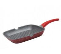 Грил тиган от лят алуминий Red Passion ZEPHYR ZP 4316 E28, 28 см, Мраморно покритие, Червен